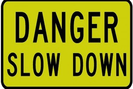 Danger Slow Down Sign 1